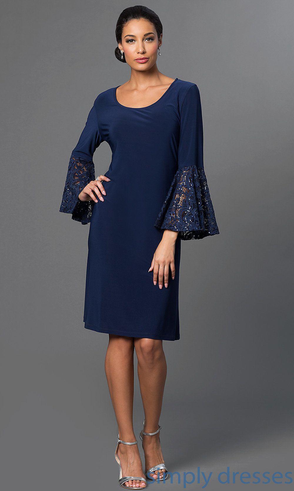 Bellsleeve kneelength dress by morgan fancyy pinterest