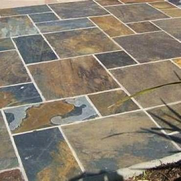 Bradstone Natural Slate Paving Vijaya Gold Slate Patio Patio Pavers Design Patio Flooring