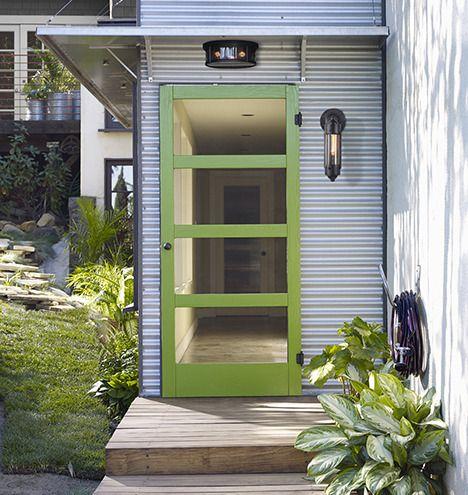 Mid Century 4 Lite Fir Screen Door Rejuvenation Screened Porch Doors Screen Door Porch Lighting