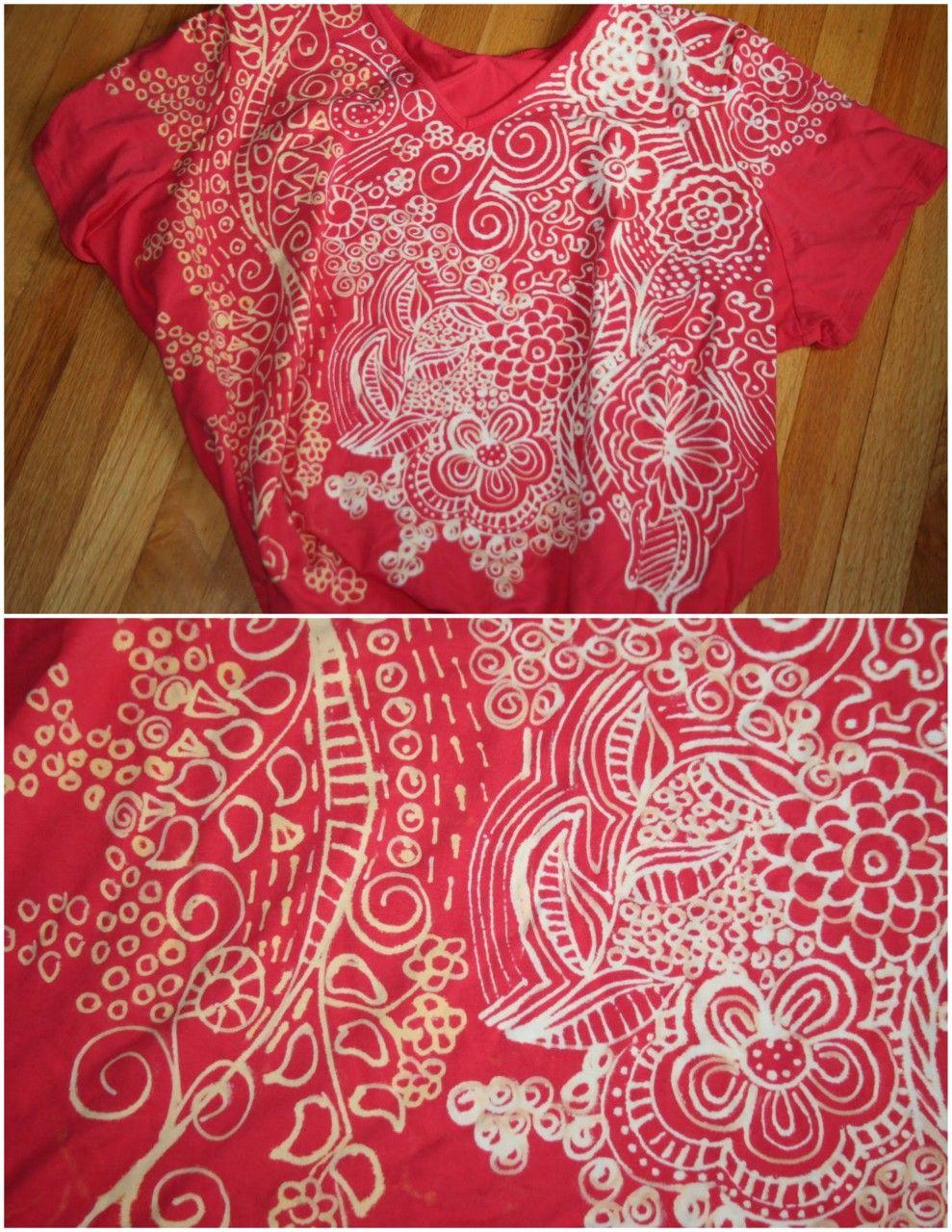 Shirt design using bleach - Diy Bleach Doodles T Shirt Using The Clorox Bleach Pen There Have Been Other