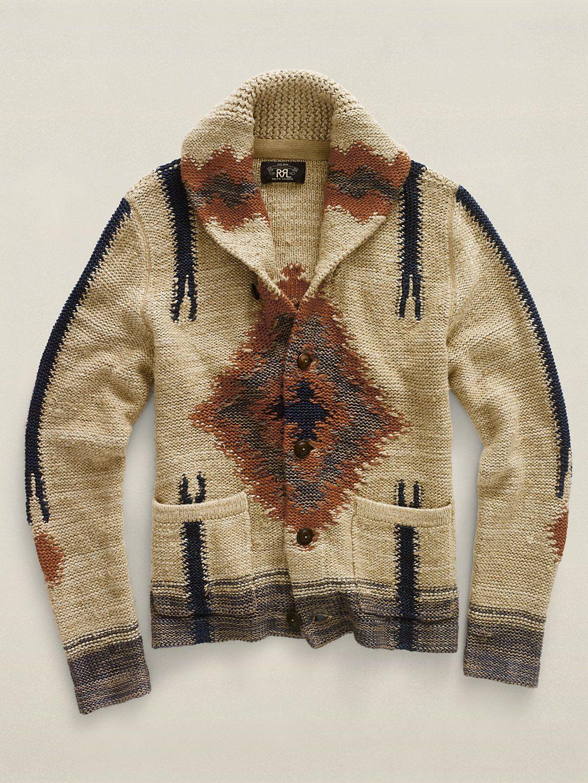 5484e2a0e Serape Shawl-Collar Cardigan    Ralph Lauren