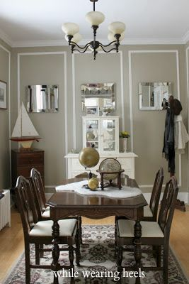 While Wearing Heels 100 Year Old Dining Room Love The Use Of Moldings To