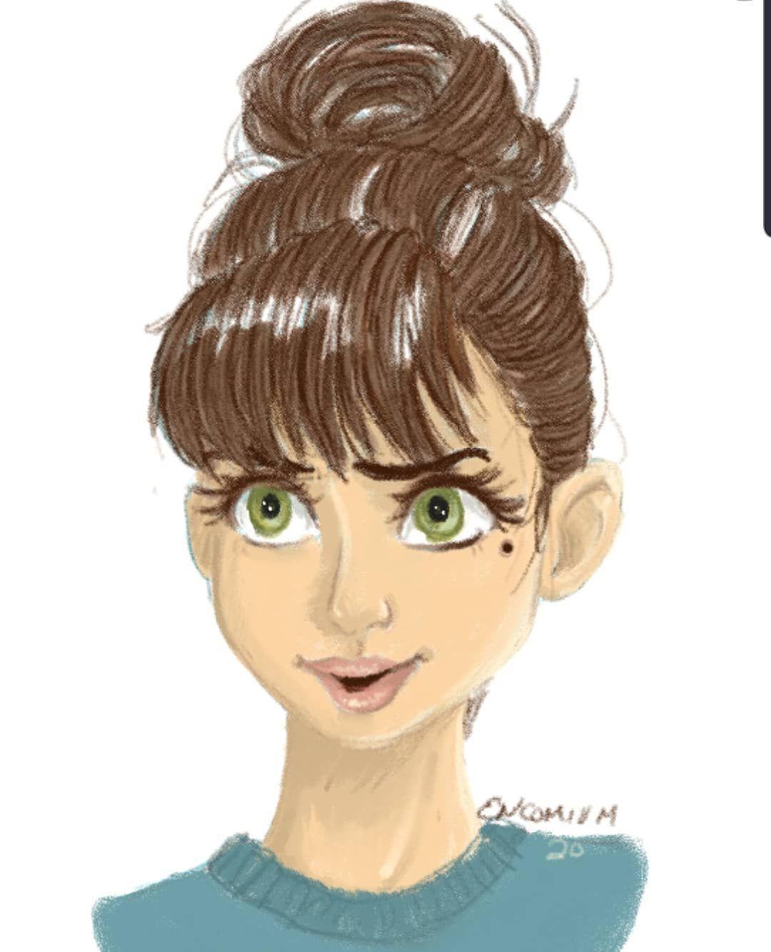 Bangs Bun Got Around To Finally Coloring In This Sketch Encomiumart Bangs Bu In 2020 How To Draw Hair Hazel Eyes Color
