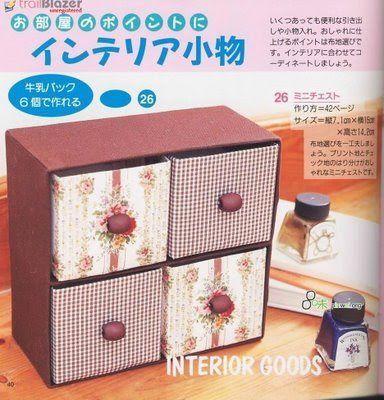 Tramas e Pinturas - O artesanato na internet.: Reciclagem de caixas de suco