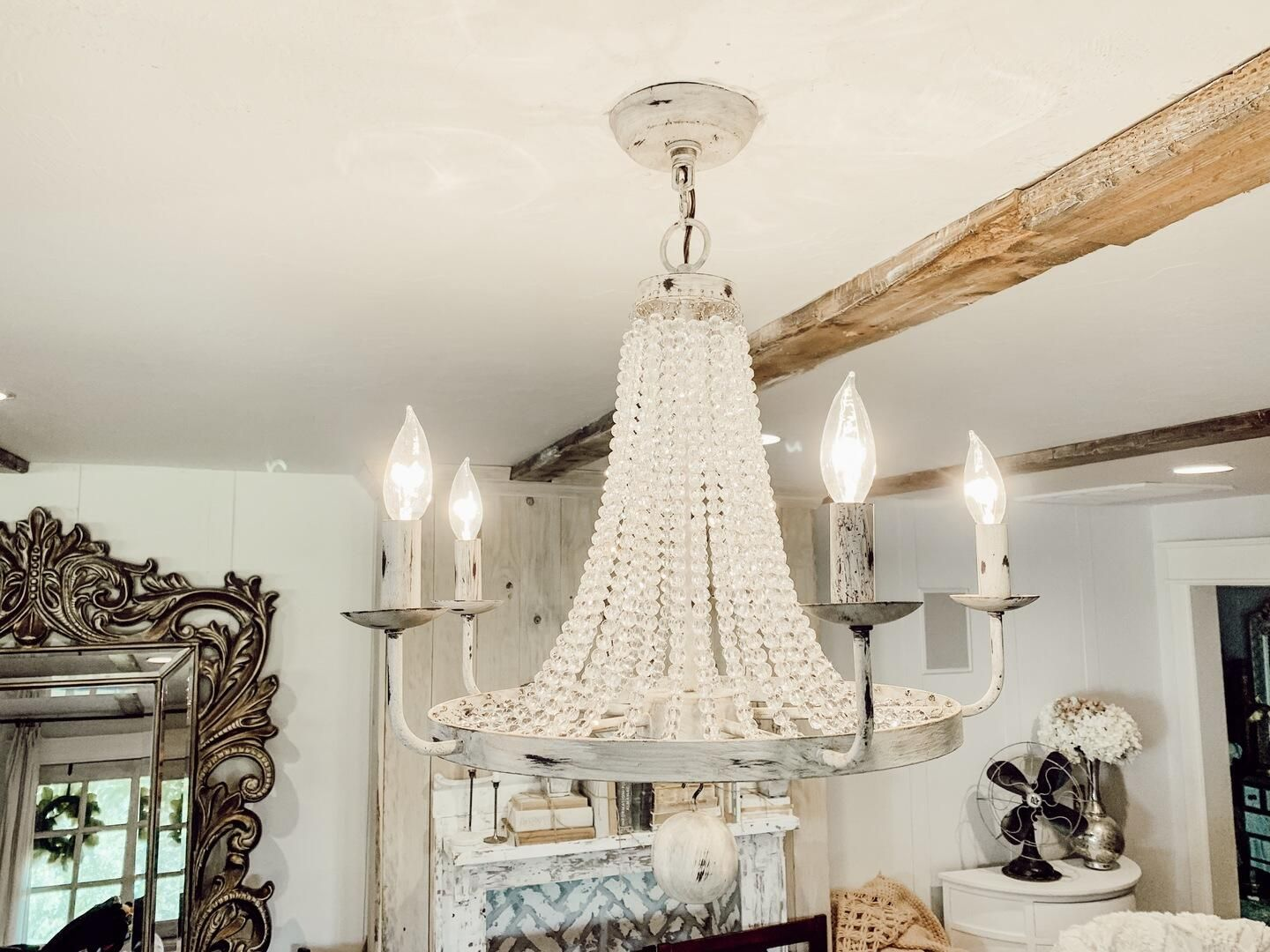 Pena Rustic Vintage Candle-Shaped Light Crystal Bead Strands