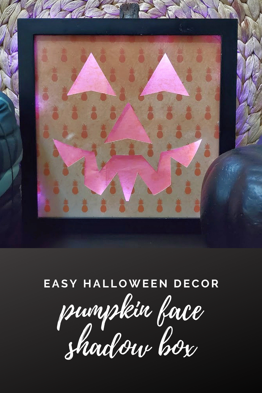 Halloween 2020 Photo Frame With Bow Pumpkin Face Shadow Box   Easy Halloween Decor in 2020 | Easy