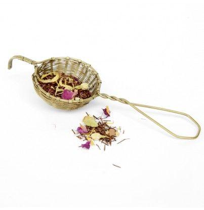 Handwoven Brass Tea Strainer - pantry - food & celebrations