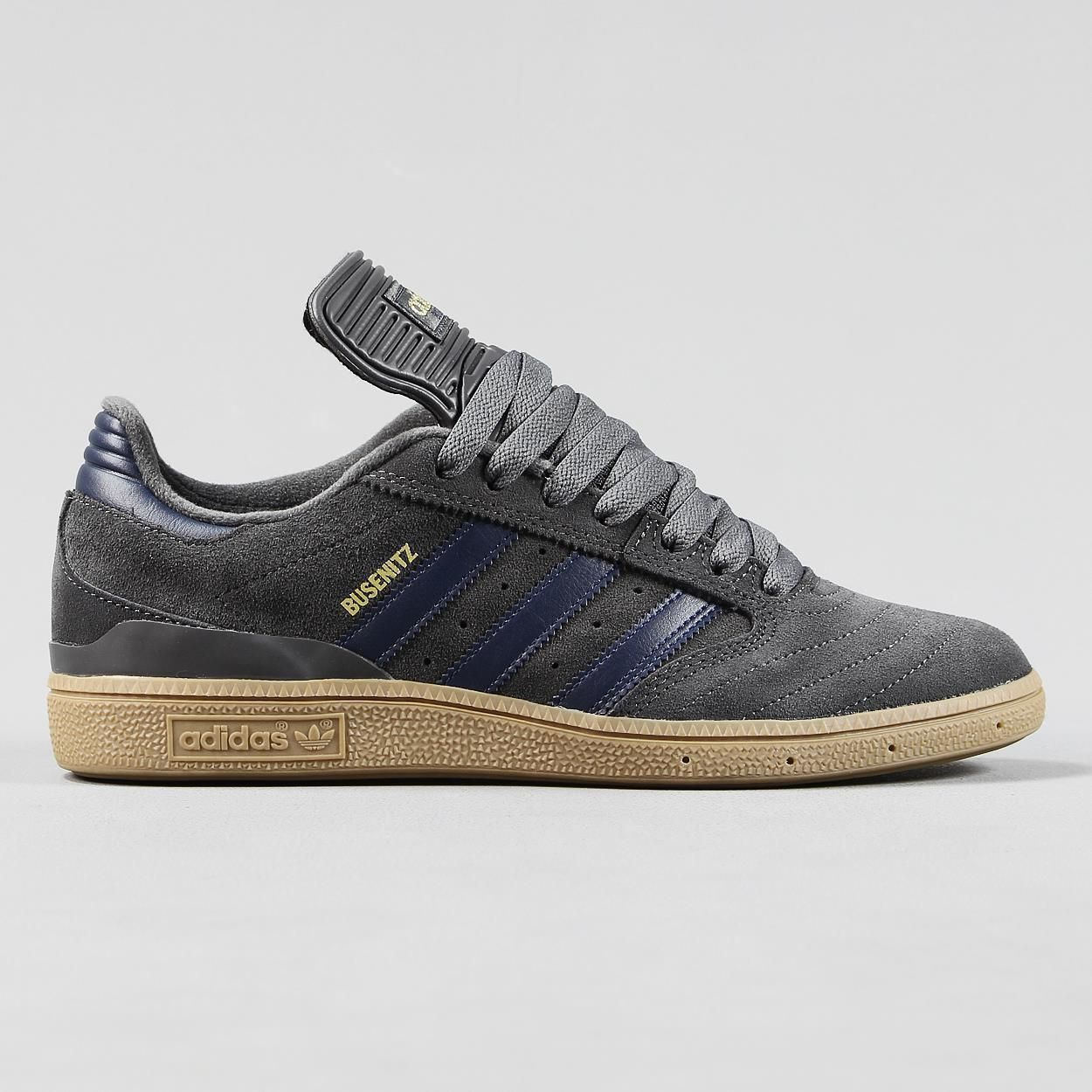 Adidas Busenitz Pro Skateboarding Shoe Dark Grey Navy Gum Mens Trainers    Trainers   Mens Shoes