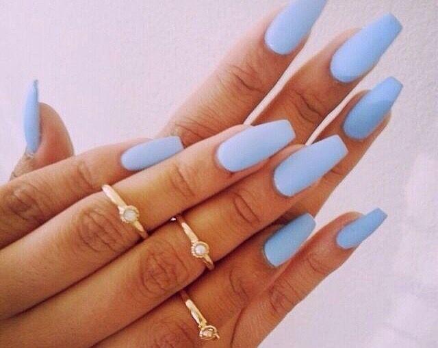 Matte blue | Maaybeee...??? | Pinterest | Nail nail