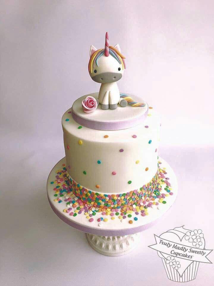 Unicorn funfetti cake Kids Birthday Cakes Pinterest Unicorns