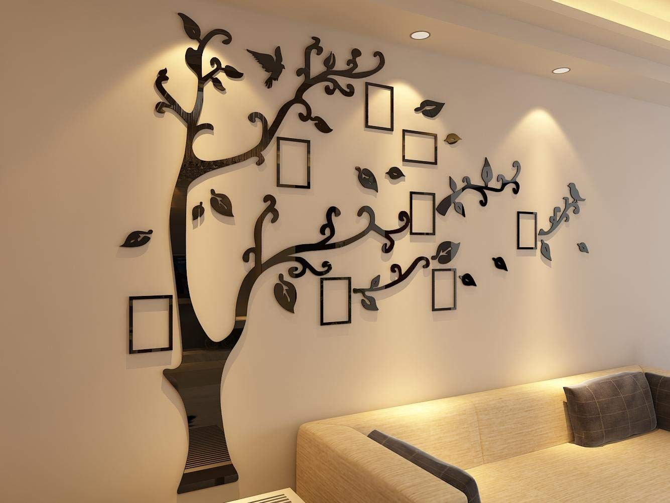 3d Picture Frames Tree Wall Murals For Living Room Bedroom Sofa Backdrop Tv Wall Background In 2020 Wall Decor Decals Tree Wall Murals Wall Decals Living Room #wall #art #decals #for #living #room