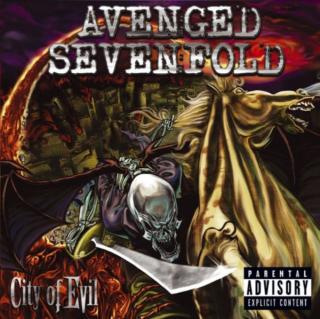 A7x City Of Evil Album Cover City Of Evil Avenged Sevenfold