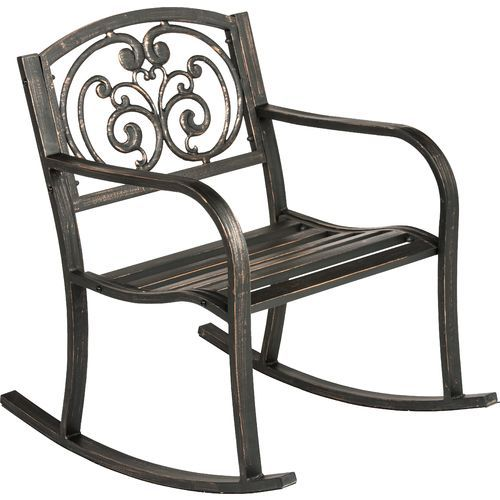 Peachy Mosaic Ivy Rocker Outdoor Living Patio Rocking Chairs Dailytribune Chair Design For Home Dailytribuneorg