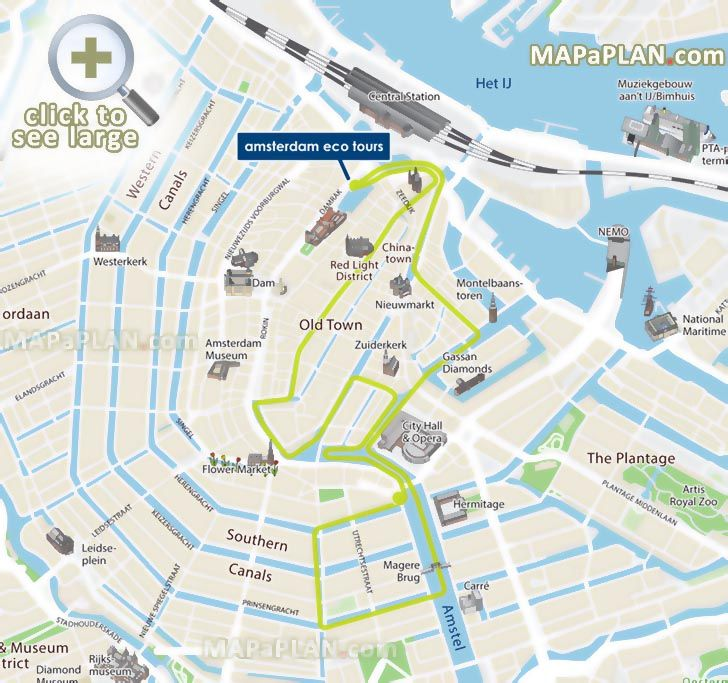 Eco Tours canal cruises water routes Amsterdam top tourist ...