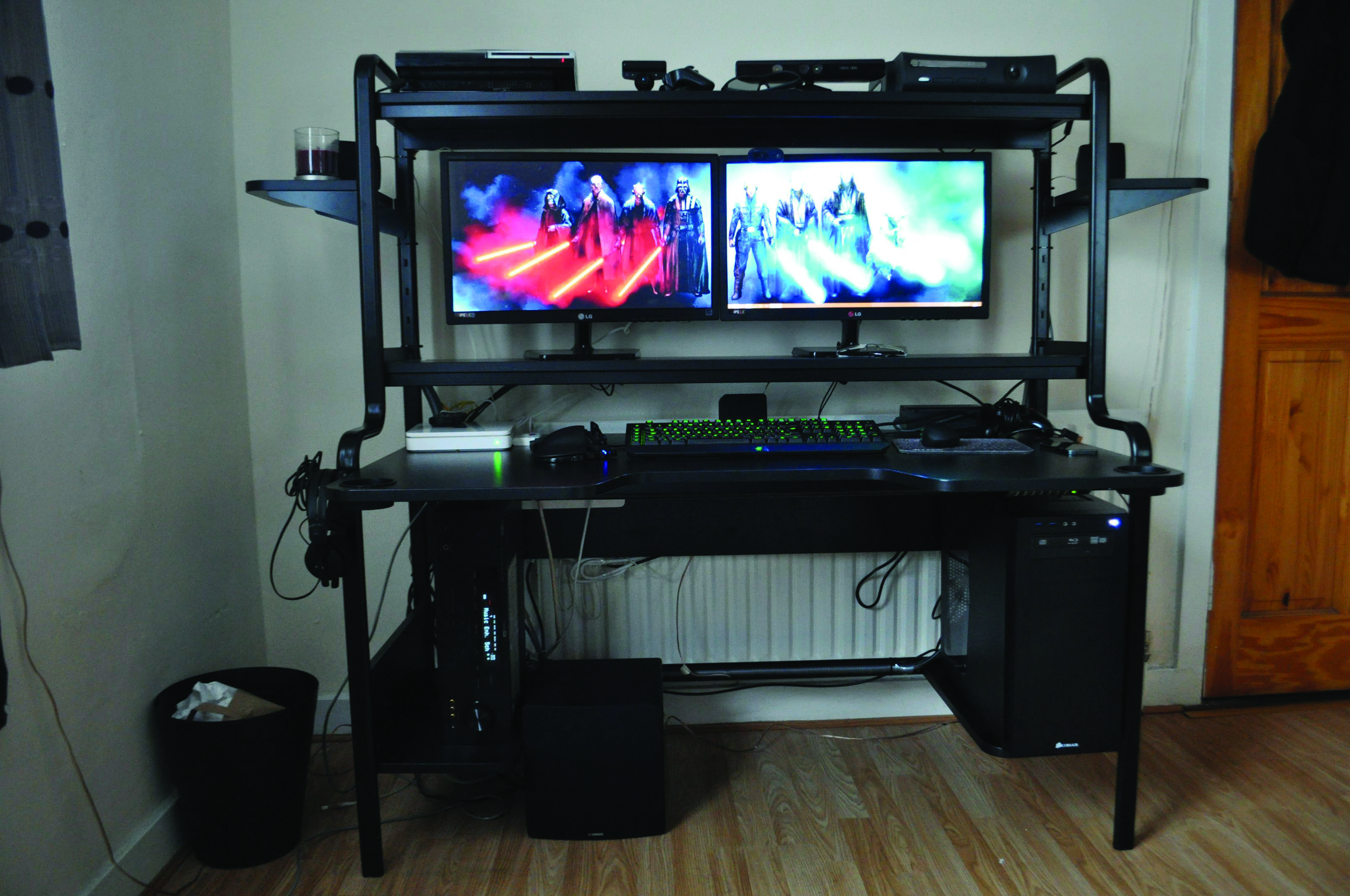 Gaming Computer Desk Dova Home Gaming Desk Gaming Computer Desk Computer Setup