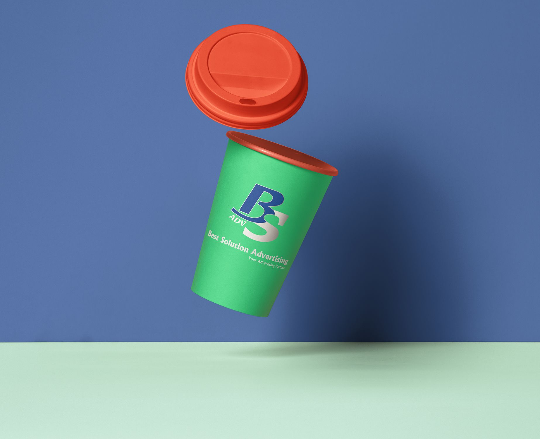 Cup Sticker Design And Printing Services In Jeddah Advertising Services Sticker Design Branding Services