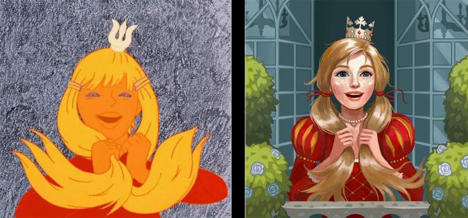 Принцессы из советских мультфильмов в современном стиле ...