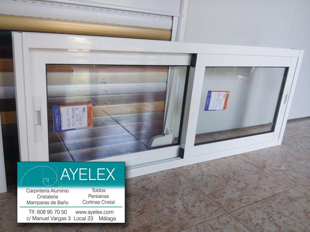 ventana corredera con tapajuntas aluminio serie cap lacado en blanco y cristal climalit colonia