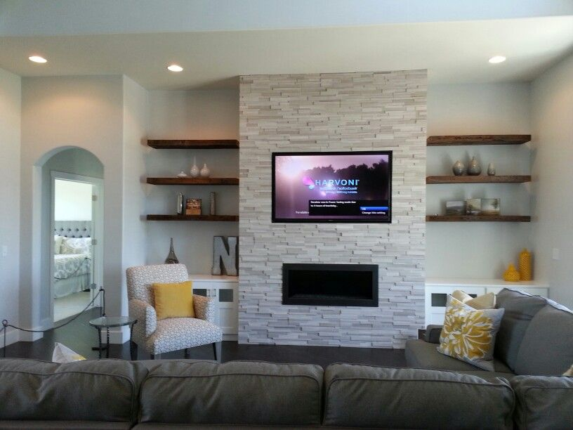 Parade Of Homes Westbridge Family Room Design Living Room Designs Home Fireplace #tv #in #middle #of #living #room