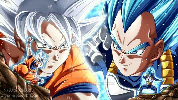 Goku y vegeta eternos rivales personajes de dragon