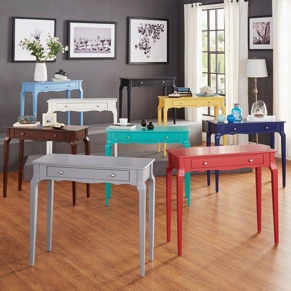 Inspire Q Daniella 1 Drawer Wood Accent Console Sofa Table