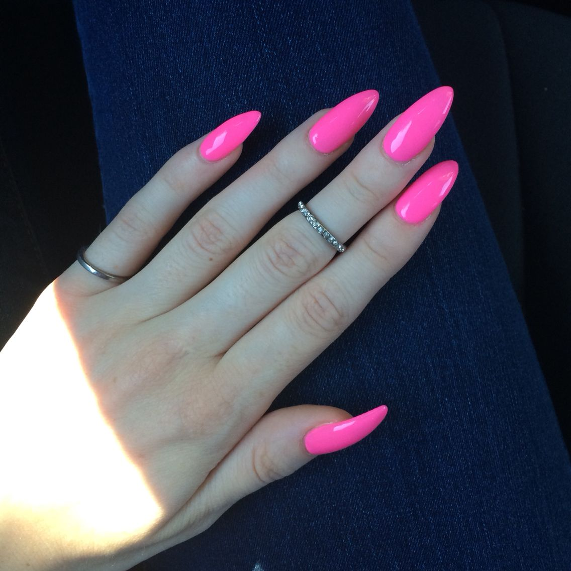 My Nails Barbie Pink Nails Hot Pink Nails Pink Nails