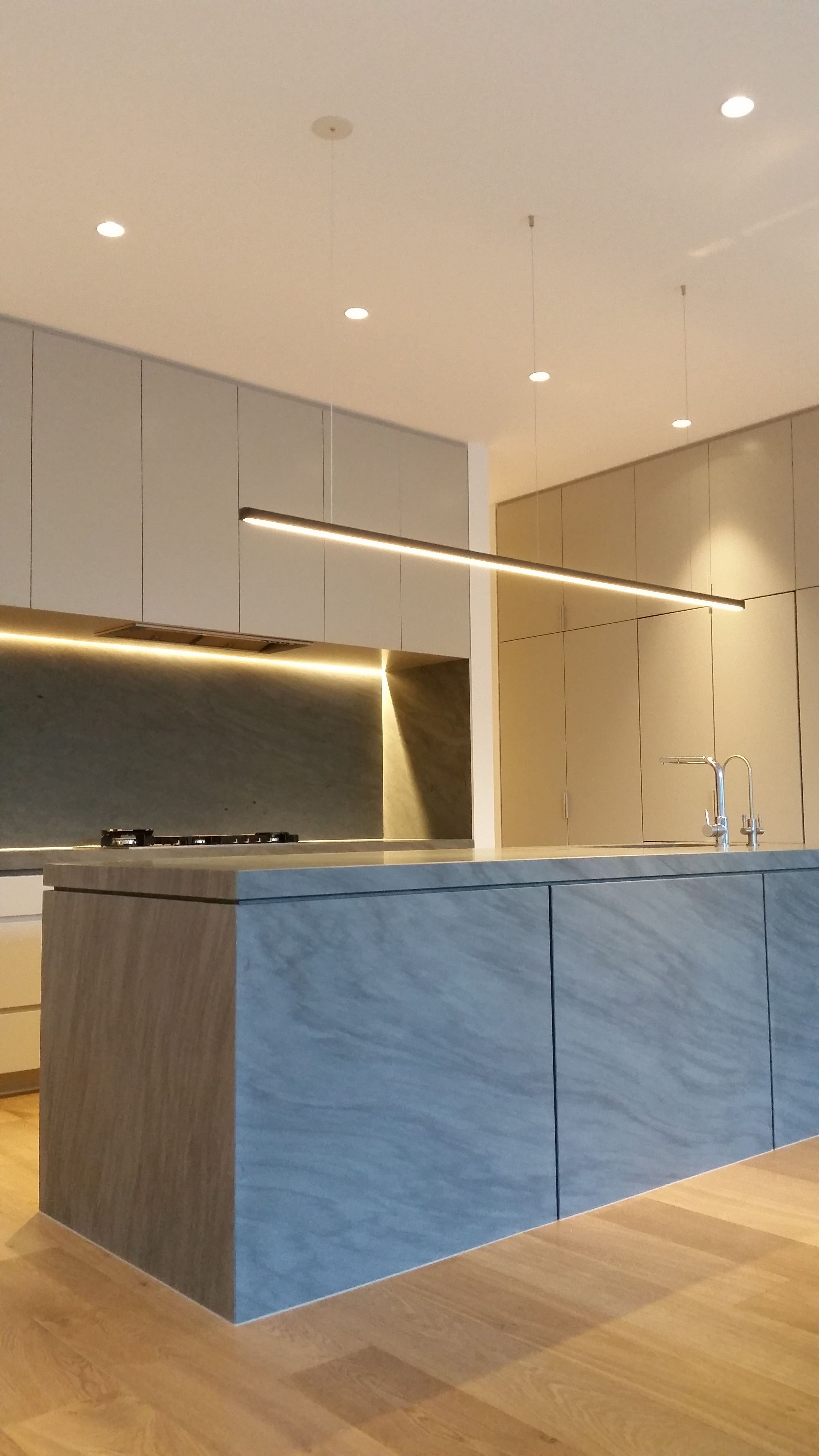 Modern Suspended Profile Kitchen Led Downlights Designer Lights Stove Top Recessed Design Www Darkon Au