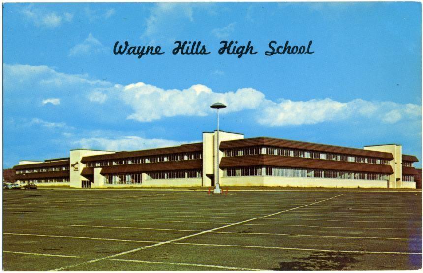 Wayne Hills High School Wayne Nj Seldom Seen Old Postcard Wayne High School Jersey Day