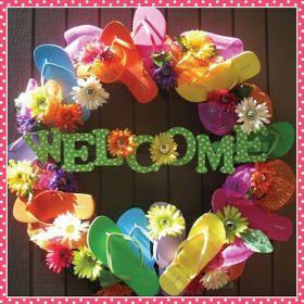Paper So Pretty: Flip Flop Wreath for Summer!