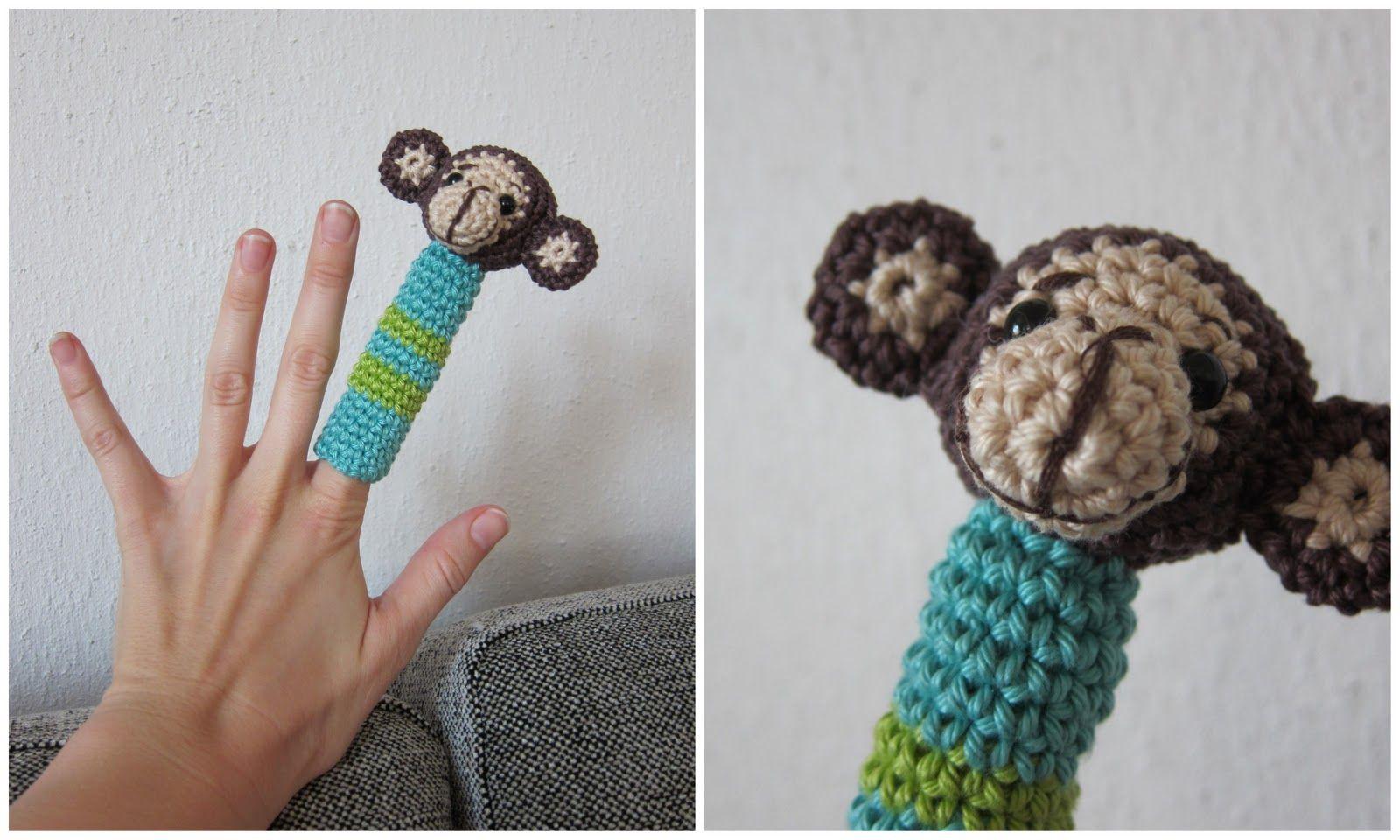 Kaptein Biff: Gratis apefingerdukkemønster/free monkey finger puppet pattern