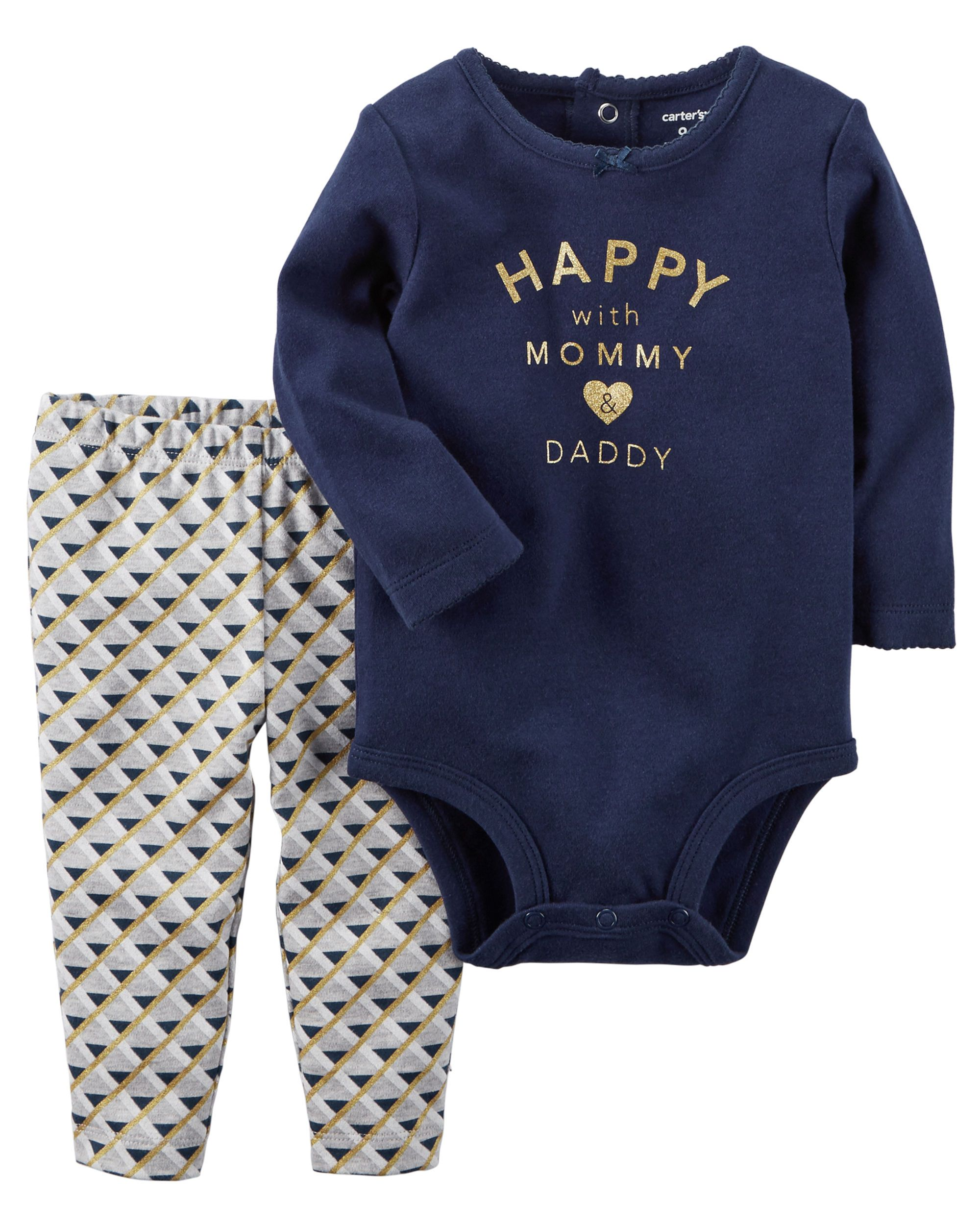 98fd6e0cc Baby Girl 2-Piece Bodysuit Pant Set from Carters.com. Shop clothing &  accessories from a trusted name in kids, toddlers, and baby clothes.