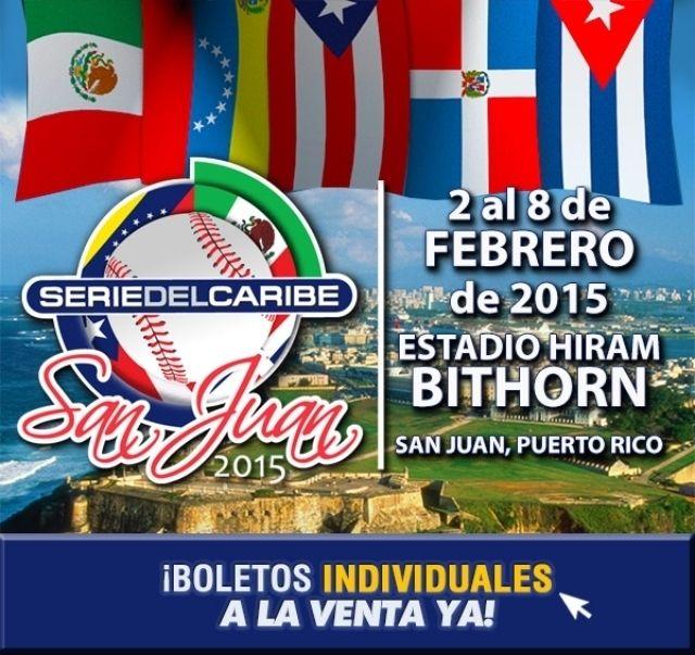 ¡Los boletos INDIVIDUALES para la Serie del Caribe 2015 YA están a la venta! Con la participación de México, Venezuela, Rep. Dominicana, Puerto Rico y como invitado especial Cuba.   #seriedelcaribe #ticketpop