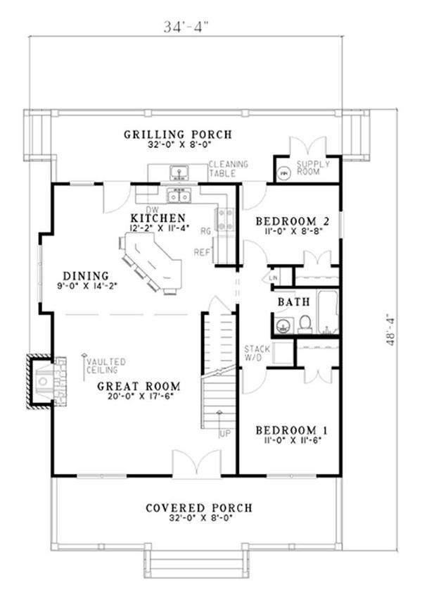 Main Floor Plan CASAS Y PLANOS Pinterest Small cottage house