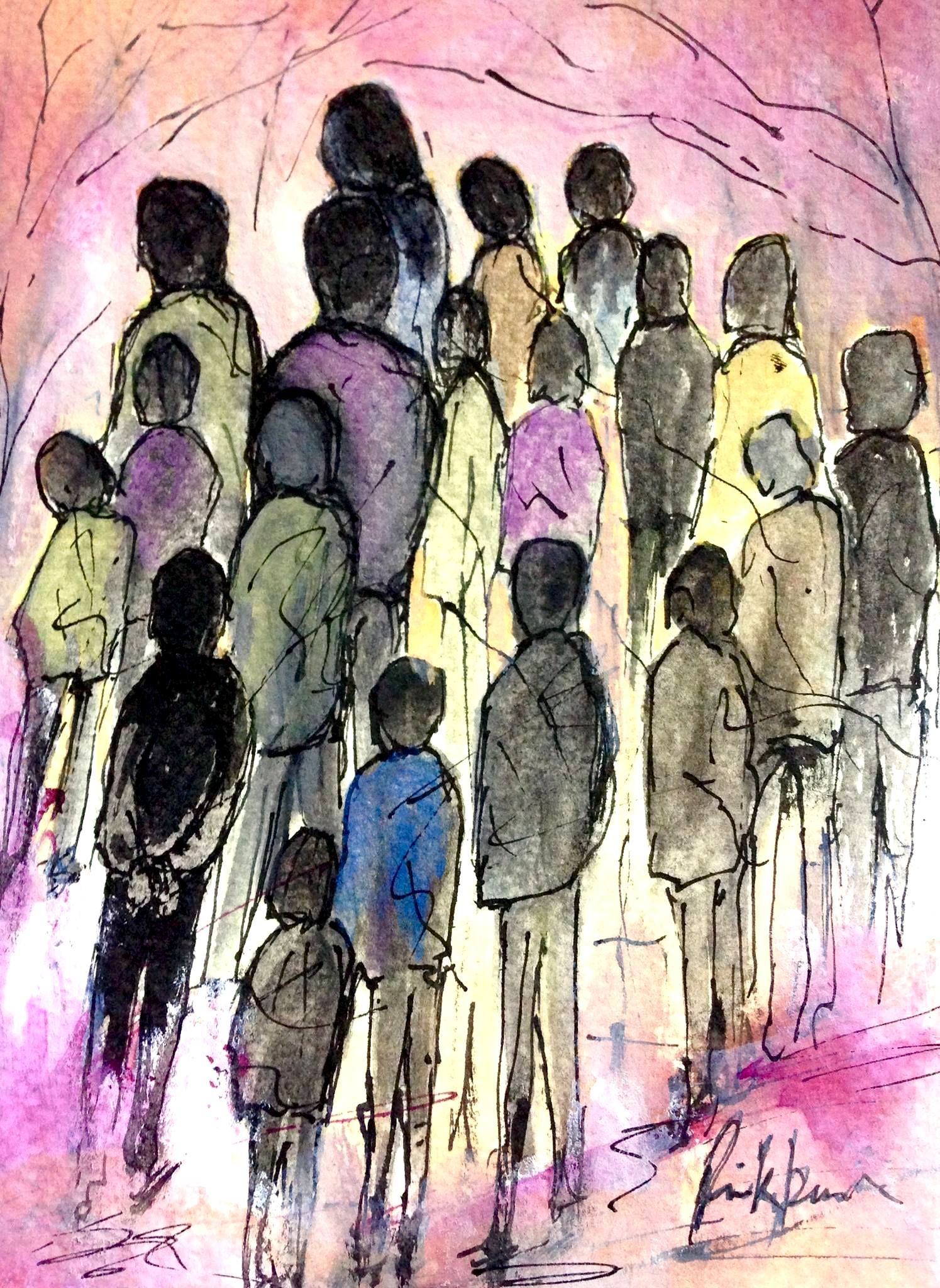 People Painting Art Watercolor Paintings He Wa Saddened By The New Paraphrase