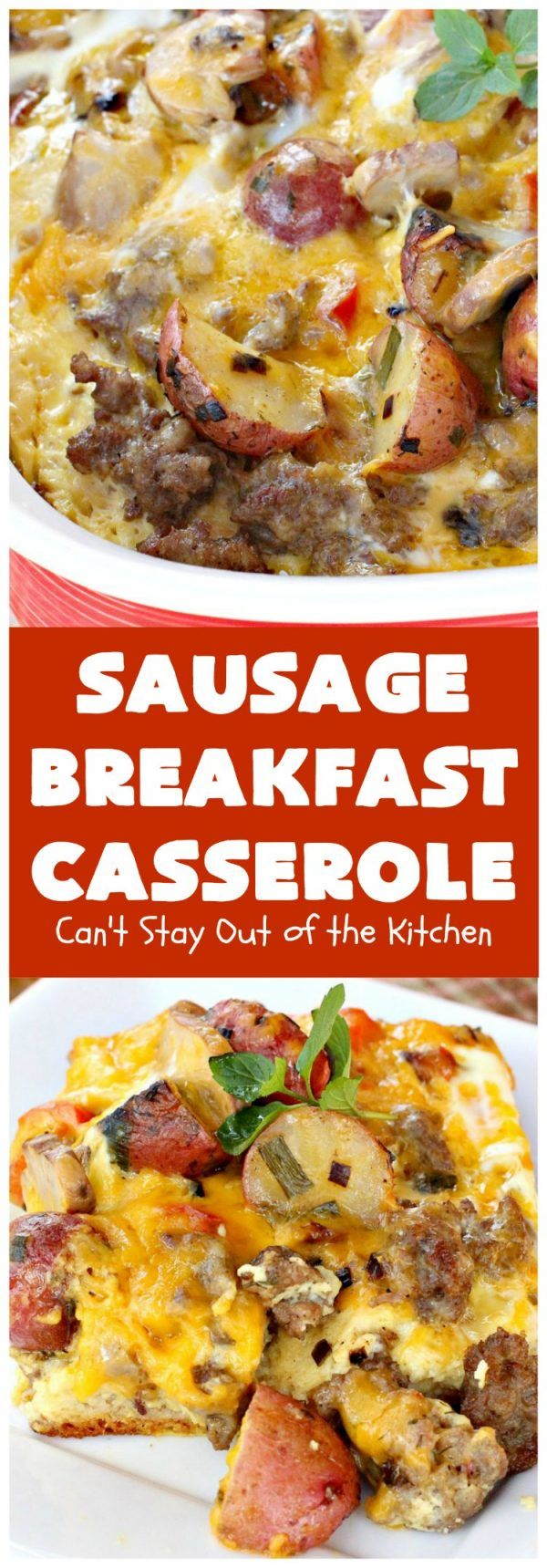 Sausage and Gravy Breakfast Casserole Sausage Breakfast Casserole | Can't Stay Out of the Kitchen | this is an amped up version of a with fried bell peppers, & loads of We love it for or breakfast because you can make it the night before & pop it in the oven an hour before you need it!
