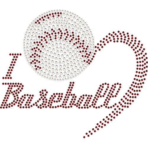 HEART Baseball Rhinestone Transfer | Baseball ⚾ | Pinterest | Deporte