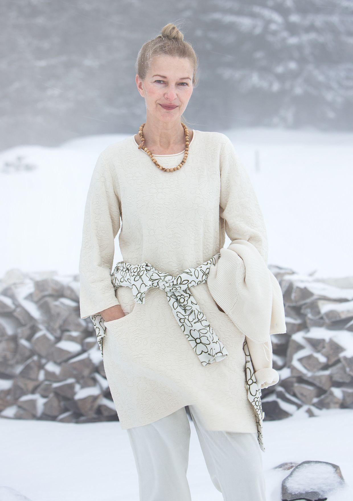 Kleding Inline.Tuniek Snobar Van Biokatoen Witte Winter Gudrun Sjoden Kleding
