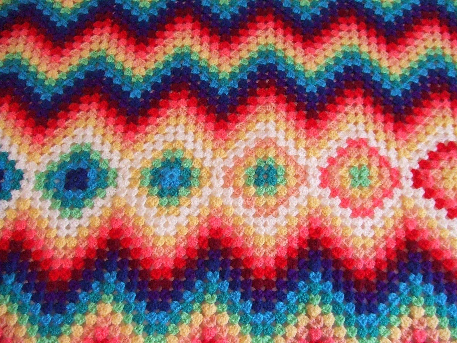 Old Fashioned Ripple Häkeln Afghan Muster Festooning - Decke ...