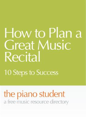 Four Keys To Piano Recital Success …