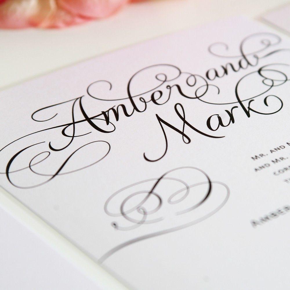Elegant Wedding Invitation - Charming Script Sample by ...