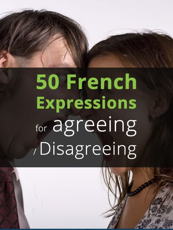 50 French Expressions For Disagreement And Agreement French