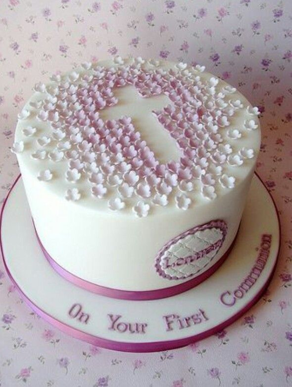 Laurens First Communion Cake    Communion cakes