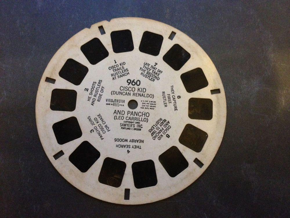 Viewmaster Reel 960 Cisco Kid Pancho 3D 1950