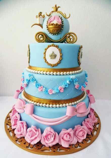 Cinderella themed cake Princess Party Pinterest Cake