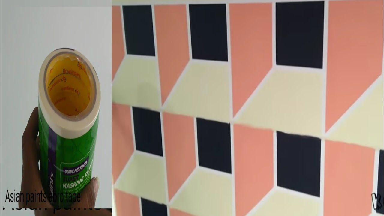 Asian Paints Masking Tape Geometric Wall Painting 3d Design Wall Paint Designs Geometric Wall Paint Geometric Wall