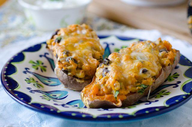 Southwestern Stuffed Sweet Potatoes 3 by Pennies on a Platter, via Flickr