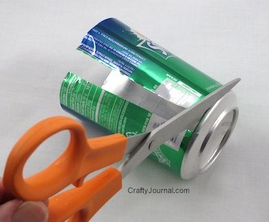 How To Turn A Soda Can Into A Flat Sheet Of Aluminum Aluminum Can Crafts Soda Can Crafts Sheet Metal Crafts