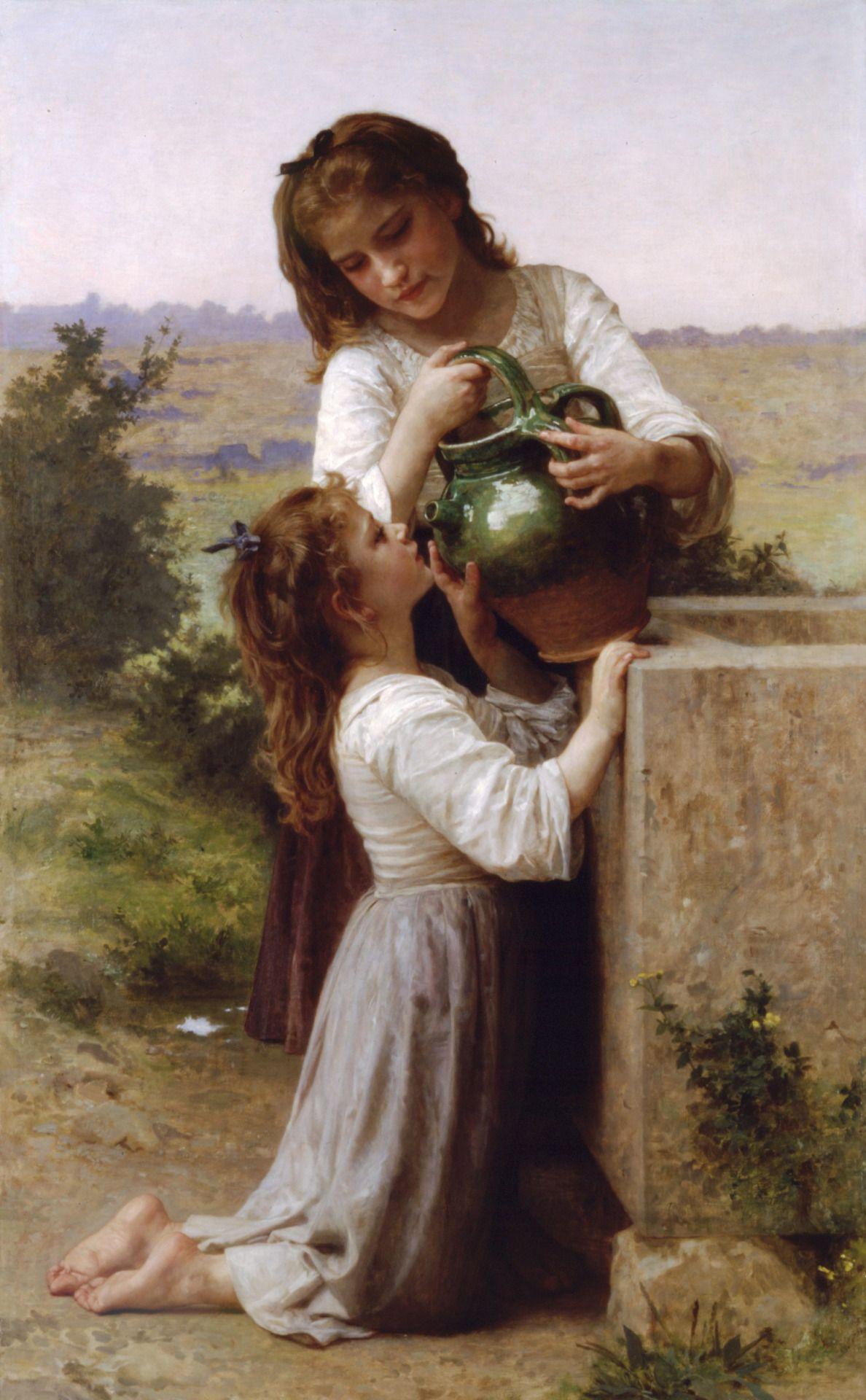 thepaintinghasalifeofitsown:  William-Adolphe Bouguereau: At the fountain