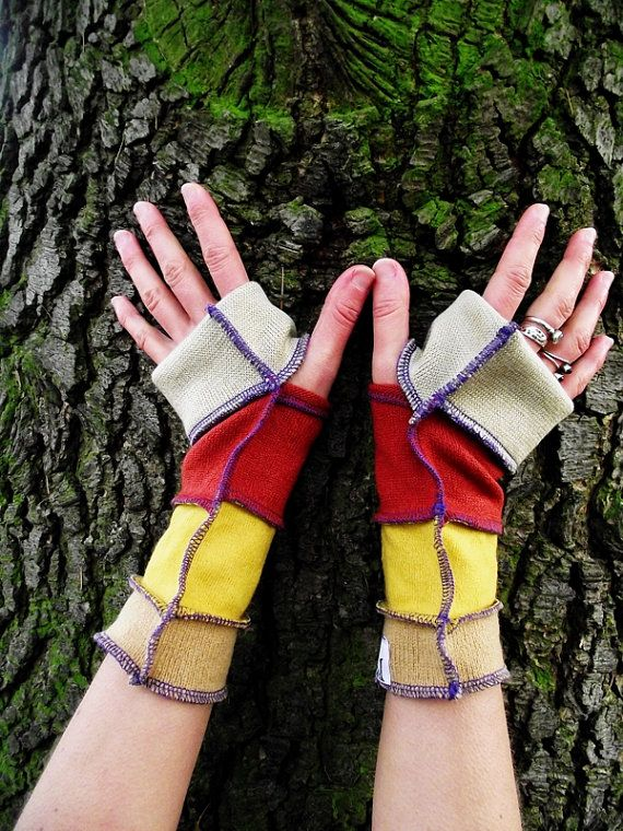 Recycled Sweater Fairy Wrist Warmers