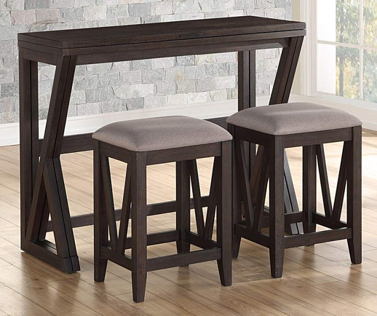 Espresso Brown Folding Dining Table Dining Room Furniture Sets